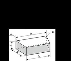Клин трапецеидальный поперечный (двусторонний)