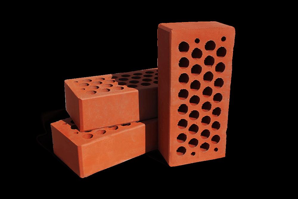 Кирпич керамический, облицовочный красный